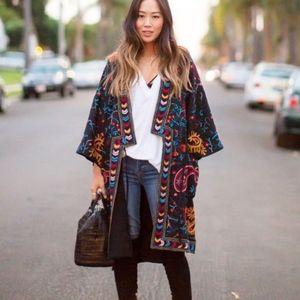 French connection Miko stitch kimono coat NWT